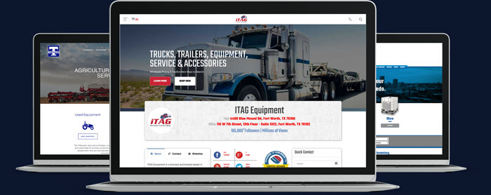 Website Design for Truck Dealers, Trailer Dealers, Heavy Equipment Dealers, and Parts Dealers