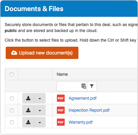 Store Documents & Files