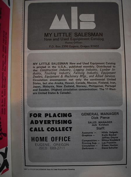 My Little Salesman Equipment Catalog - September 1970 Issue