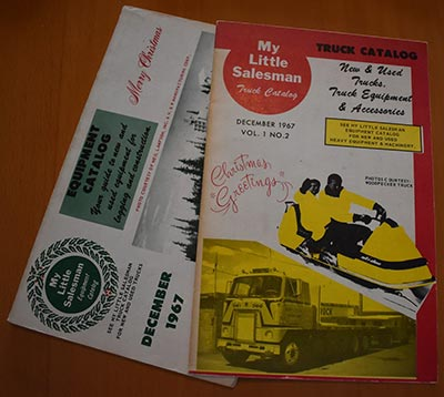 The My Little Salesman 'Heavy Equipment Catalog' and the 'Truck Equipment and Trailer Catalog' from 1967