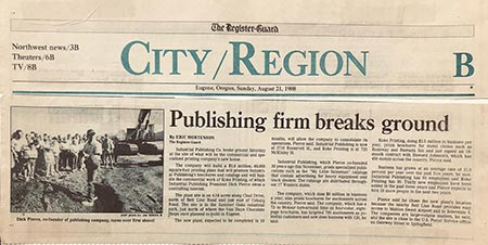 The Register Guard August 1989 - My Little Salesman Breaks Ground