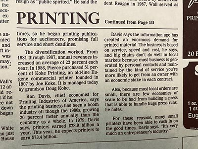 The Register Guard December 1989 - Business Booms for Printing Company Continued