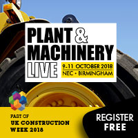UK Construction Week 2018 Plant and Machinery Live