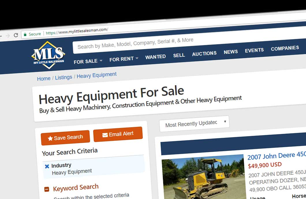 Selling Heavy Equipment Online