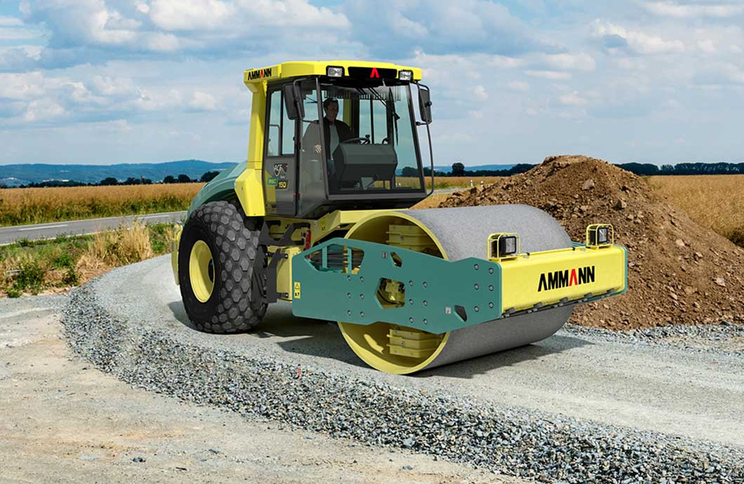 Ammann ASC 150 t4f Single Drum Soil Compactor