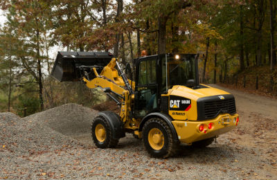 Cat M Series Ag Handler compact wheel loader with bucket