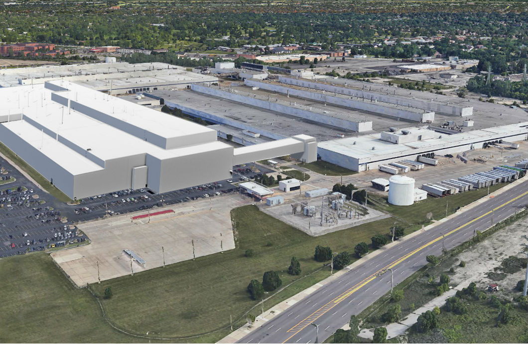 Rendering of the new Mack Avenue assembly complex