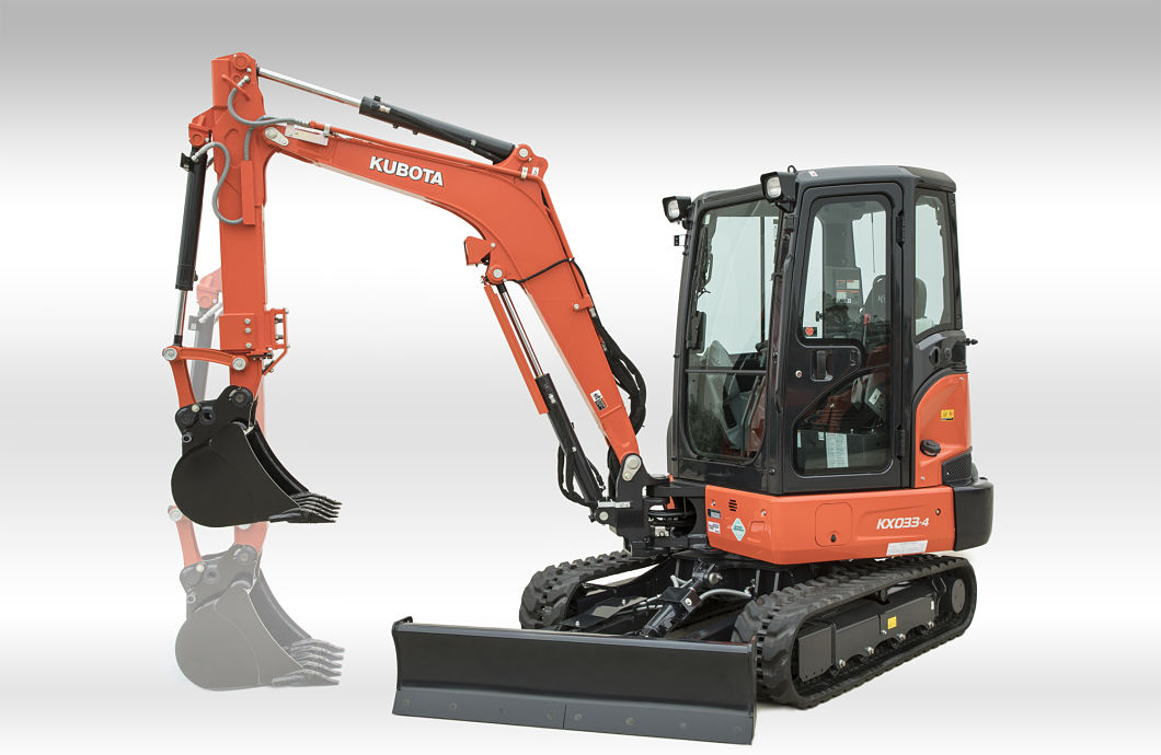 Kubota Unveils KX033-4 Compact Excavator at 2018 World of Concrete