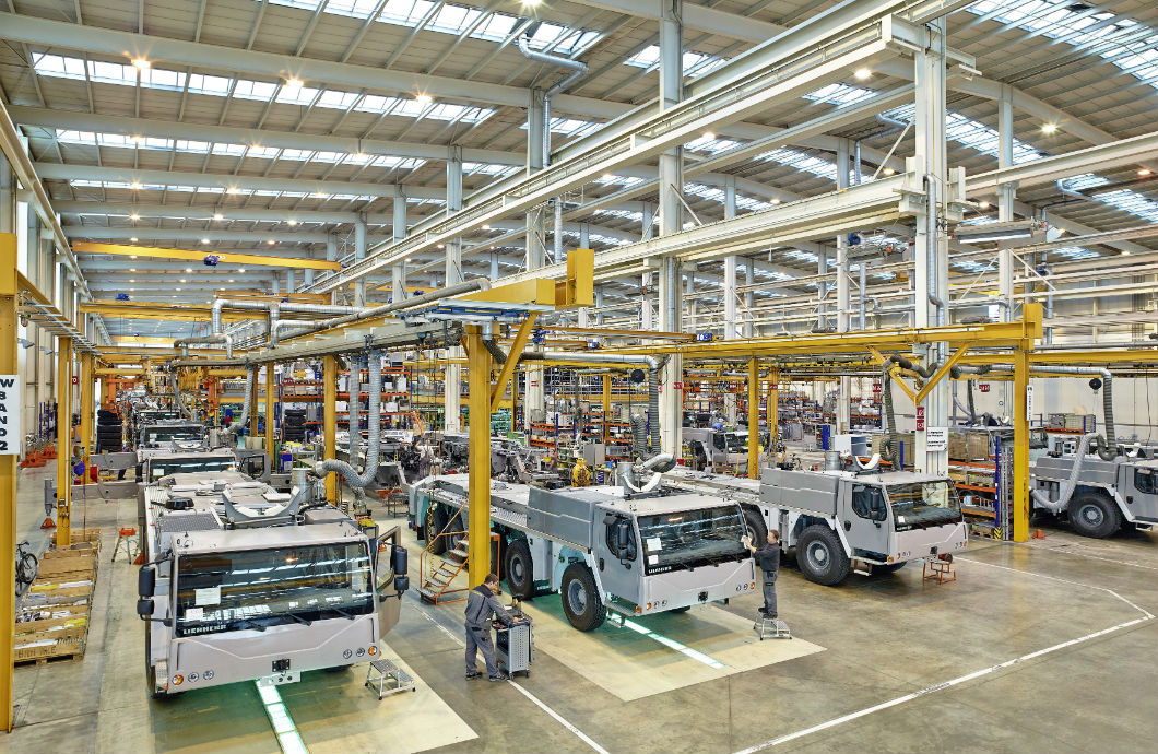 Liebherr final assembly line
