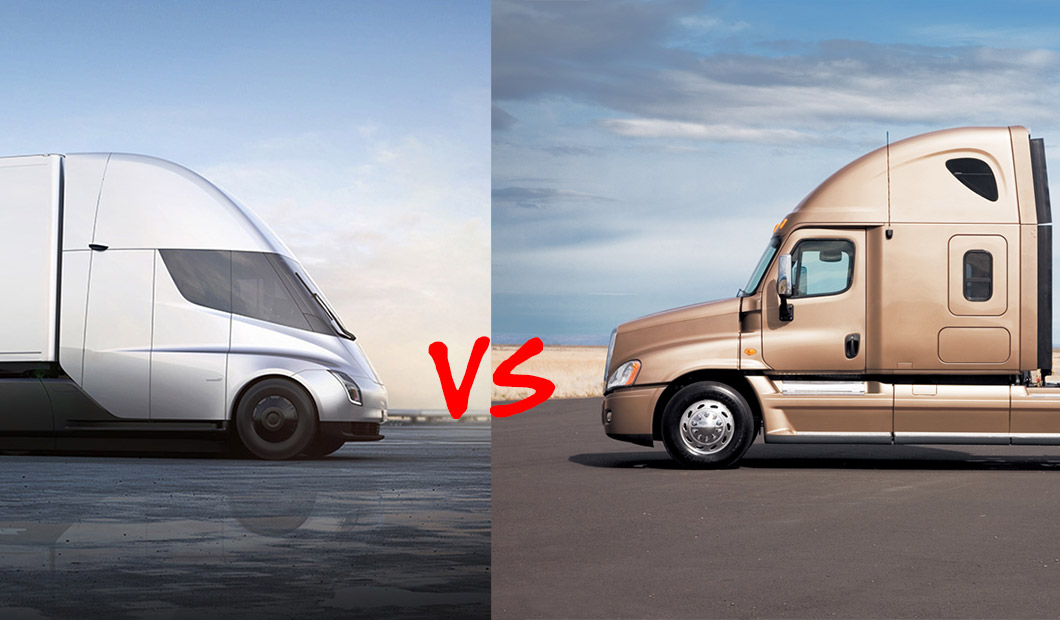 Early Comparison Review Tesla Semi Vs Sel Trucks