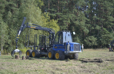 A Forestry Machine being shown at EKO-LAS in Poland